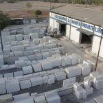 Stock yard white marble collection at vikas marble rajsamand