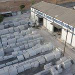 Natural white marble stock yard of vikas marble