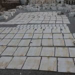 Natural White marble stone processing in rajsamand