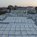 White marble stone collection in rajsamand