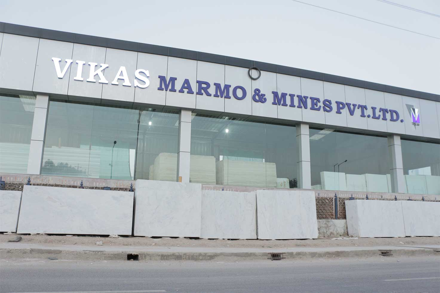 White natural stone marble at our store